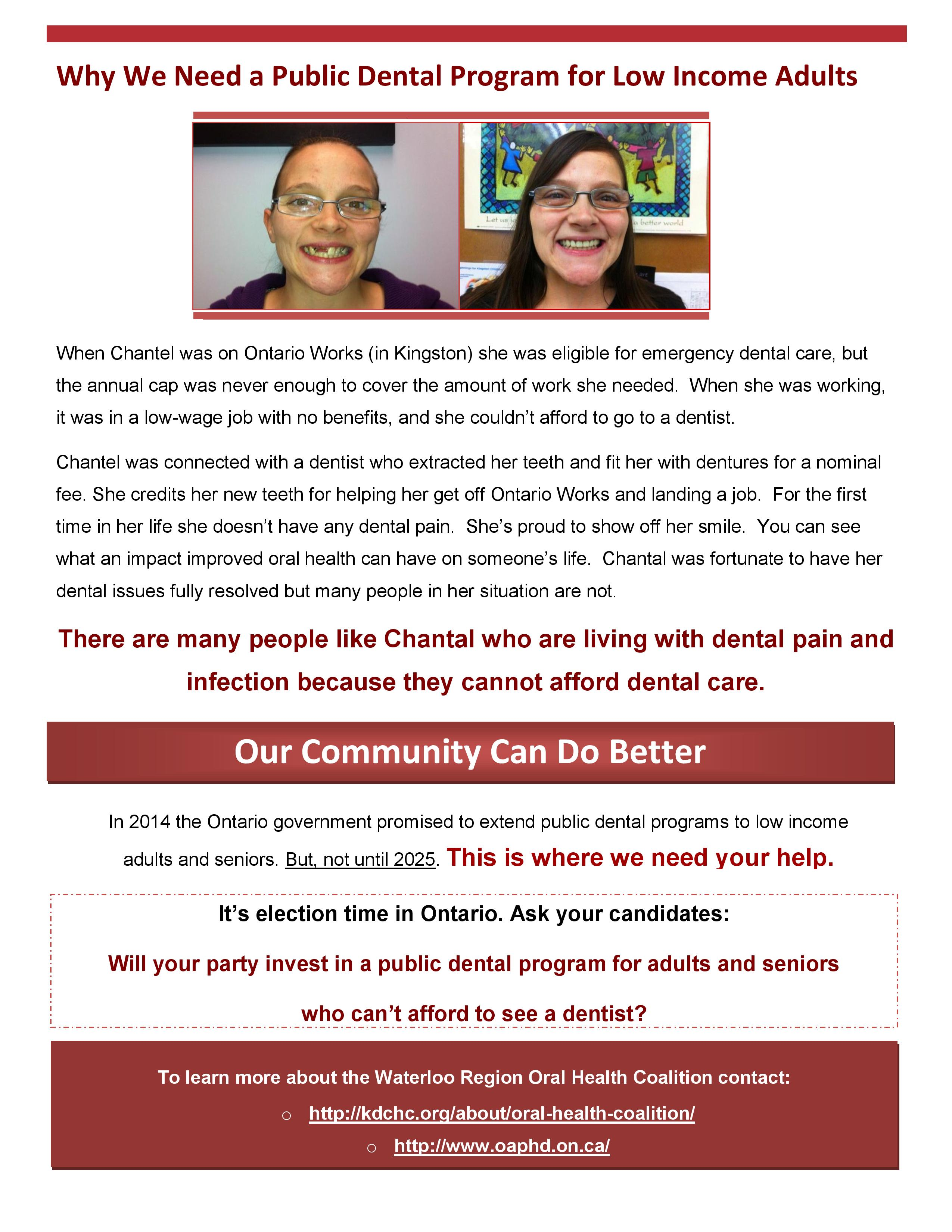 Oral Health Coalition   Kitchener Downtown Community Health Centre